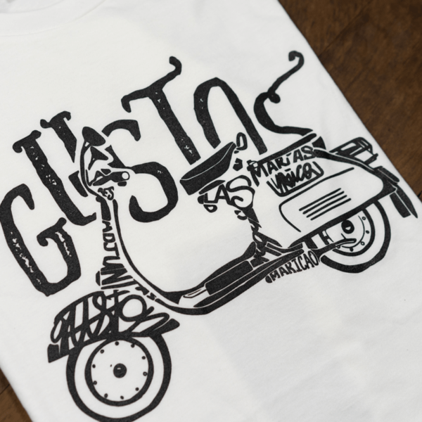 02c Male Graphic Tee Vespa Side