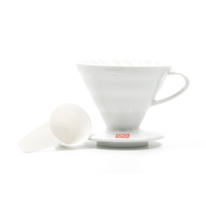 HARIO V-60 CERAMIC COFFEE DRIPPER, SIZE 02 WHITE