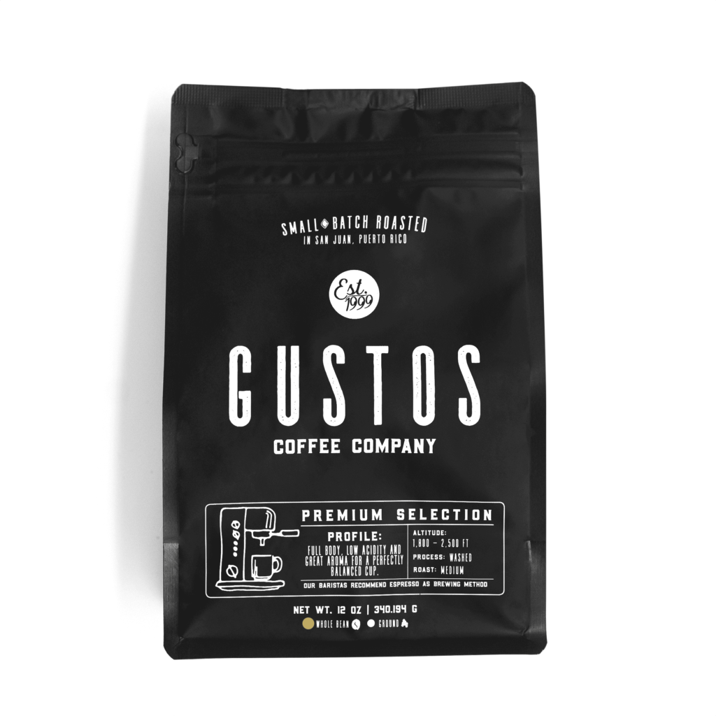 Gustos Premium Selection 12 oz Whole Bean Coffee Puerto Rico