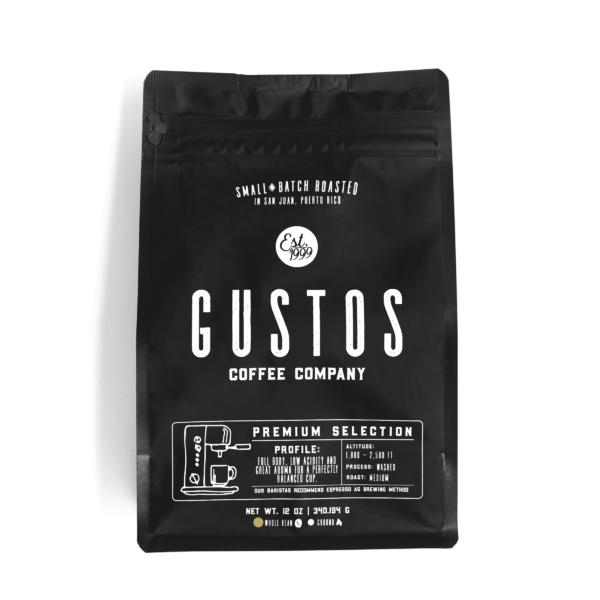 Gustos Premium Selection 12 oz Whole Bean Coffee Puerto Rico