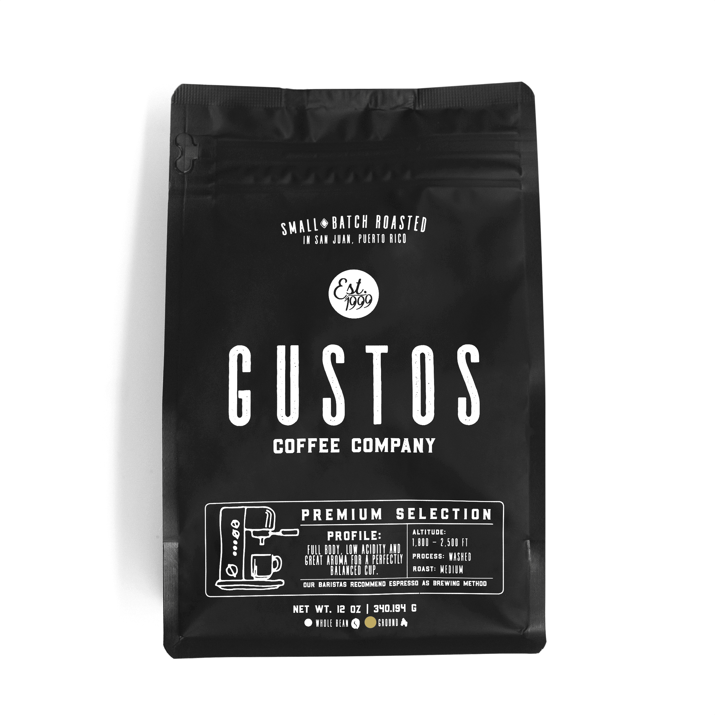 Gustos Premium Selection 12 oz Ground Coffee Puerto Rico