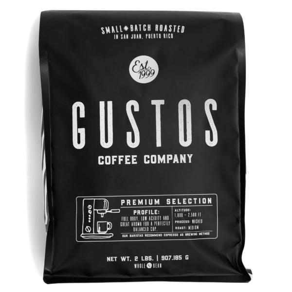 Gustos Premium 2lb Whole Bean Puerto Rico