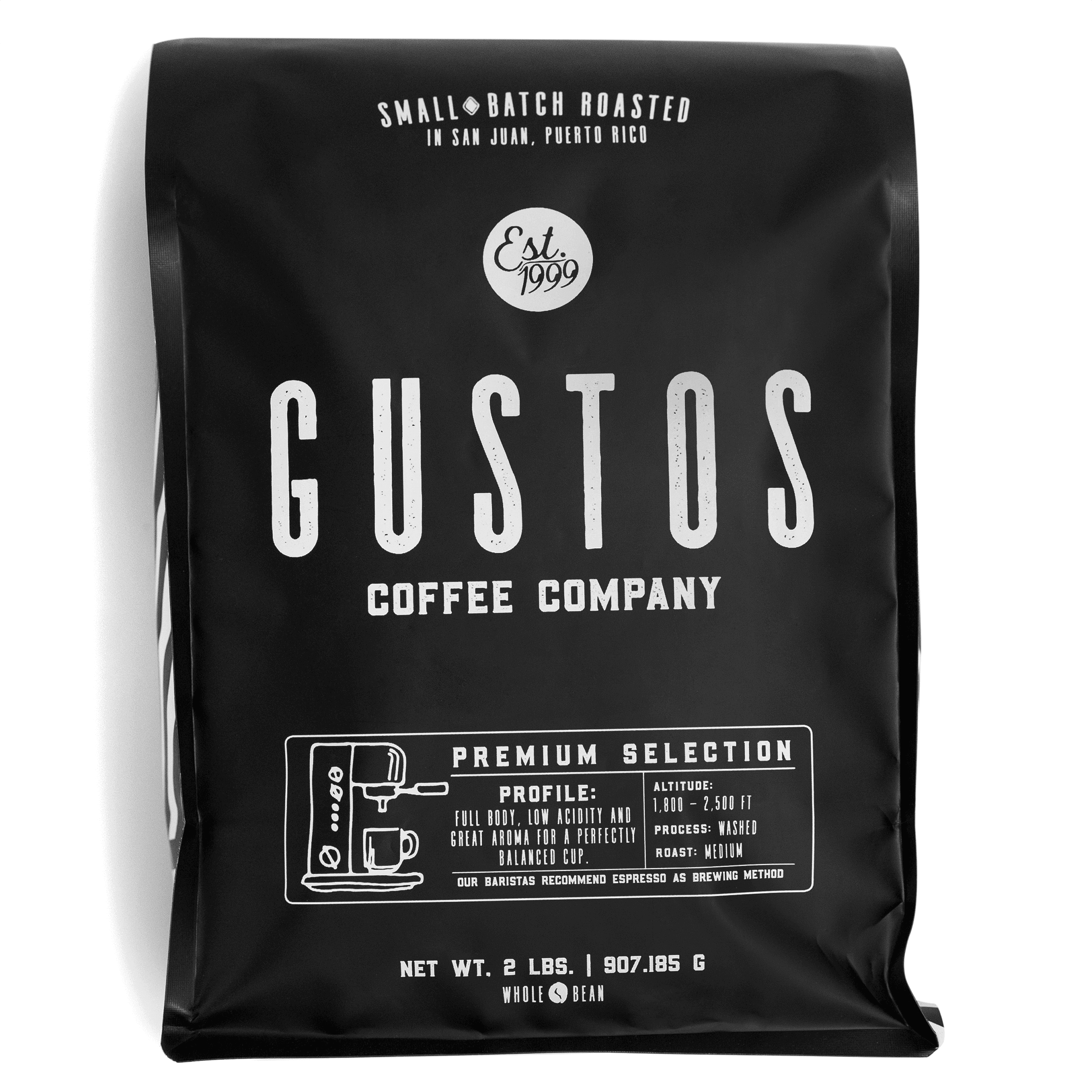 Gustos Premium 2lb Whole Bean Puerto Rico