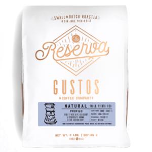 GUSTOS RESERVA – NATURAL 2 LB WHOLE BEAN