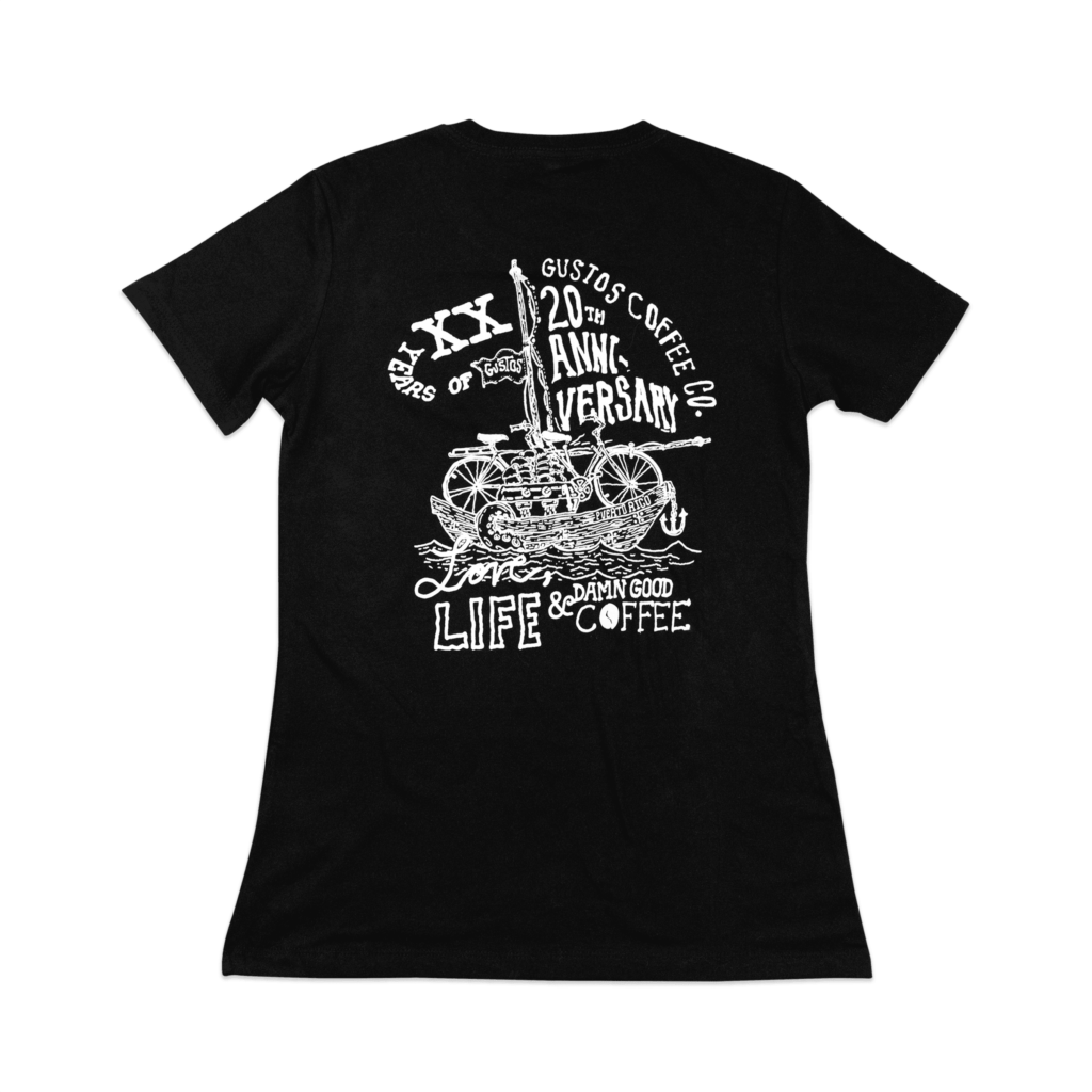 XX Years of Gustos Graphic Tee (Back) - Women