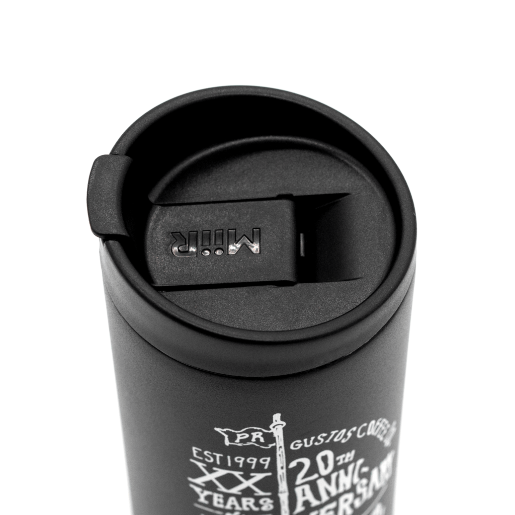 20th Anniversary MiiR Travel Tumbler Lid View