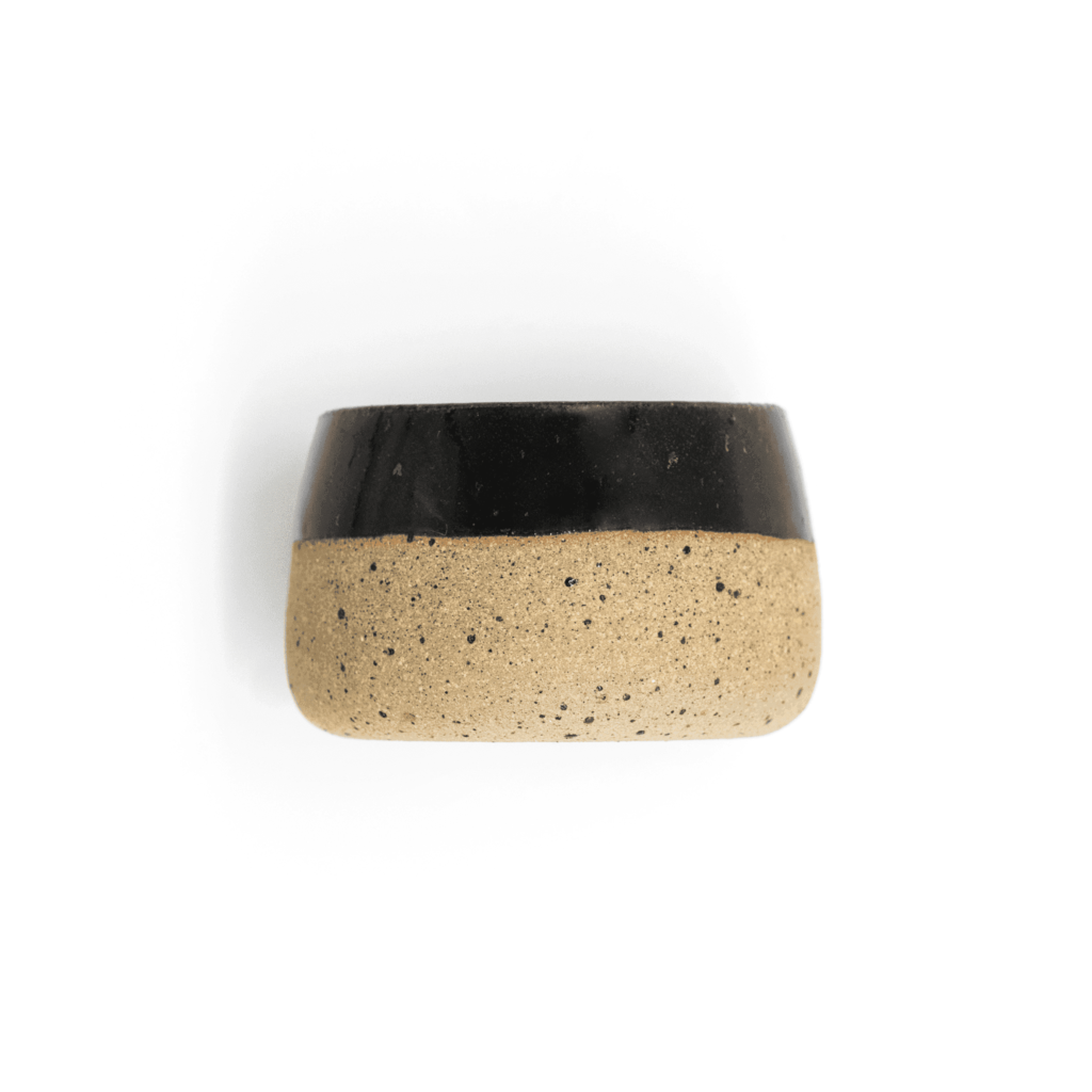 Senay Ceramics Hand Made Limited Edition Espresso Cup Black Fire glazed artesanal