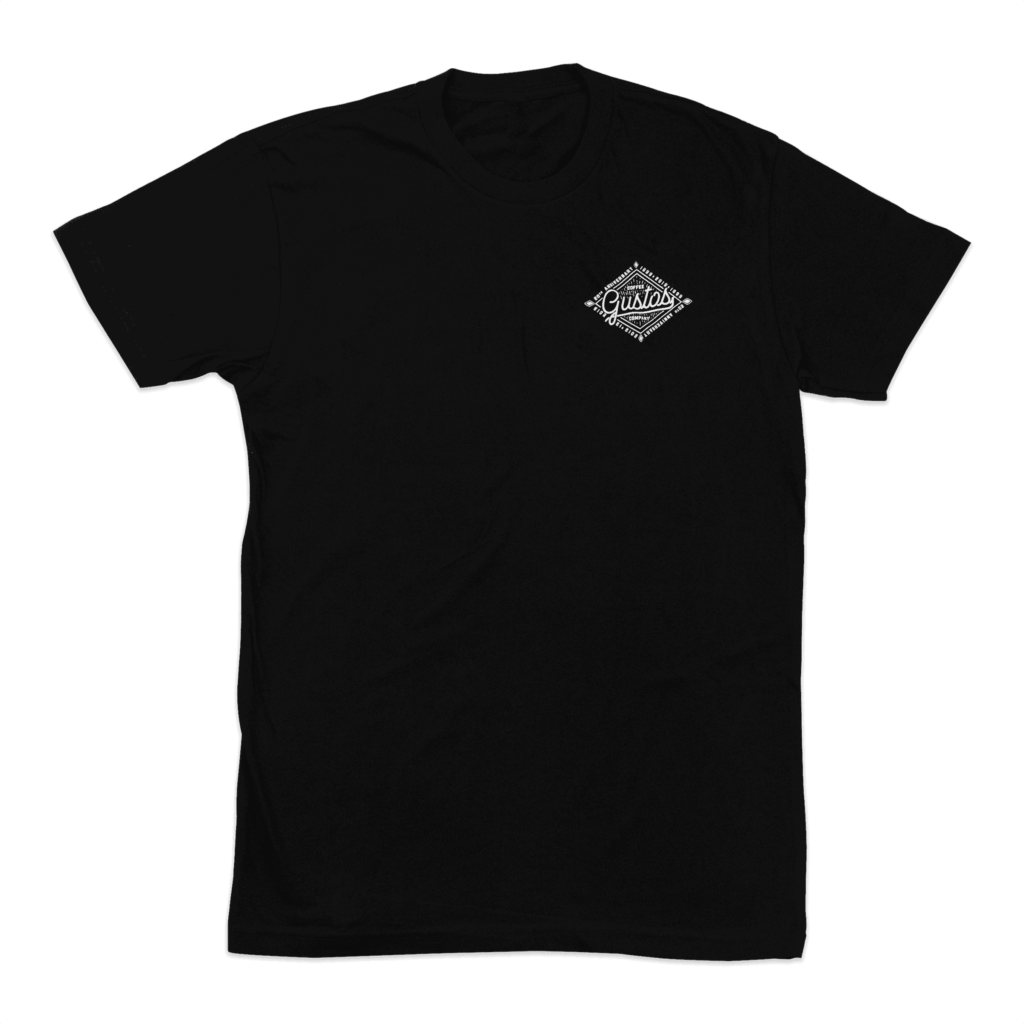 20 Years of Gustos Graphic Tee Front - Men
