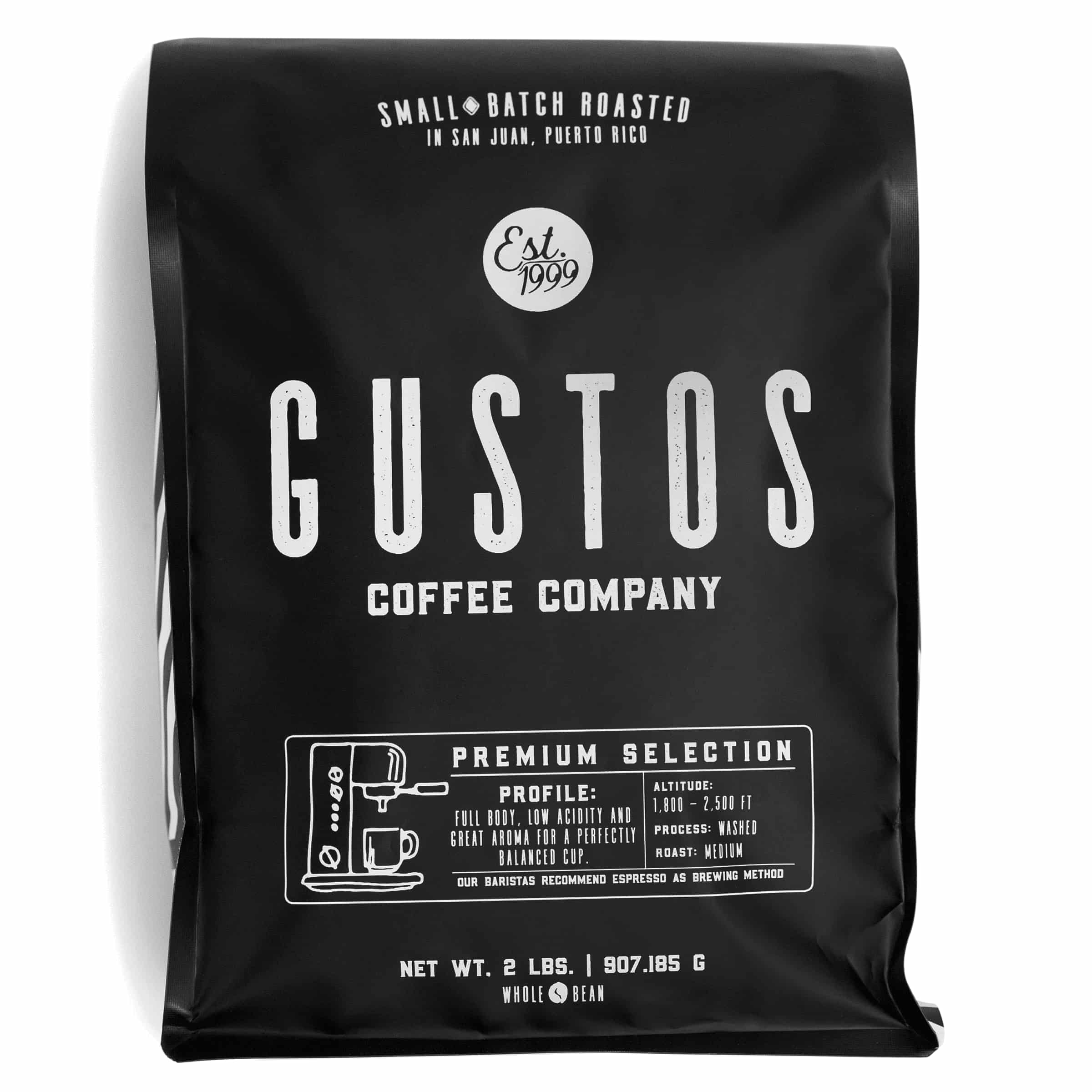2lb bag of Premium Gourmet Coffee of the Vatican, popes and Kings Yauco PR by Gustos Coffee Co