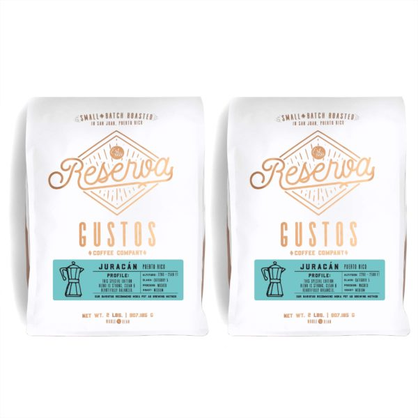 Two 2lb bag of Specialty Coffee Gustos Café Juracán Single Origin Blend Puerto Rico