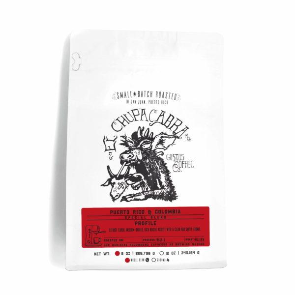 8oz Bag of Specialty Coffee El Chupacabra Colombia and PR Whole Bean Gustos Café