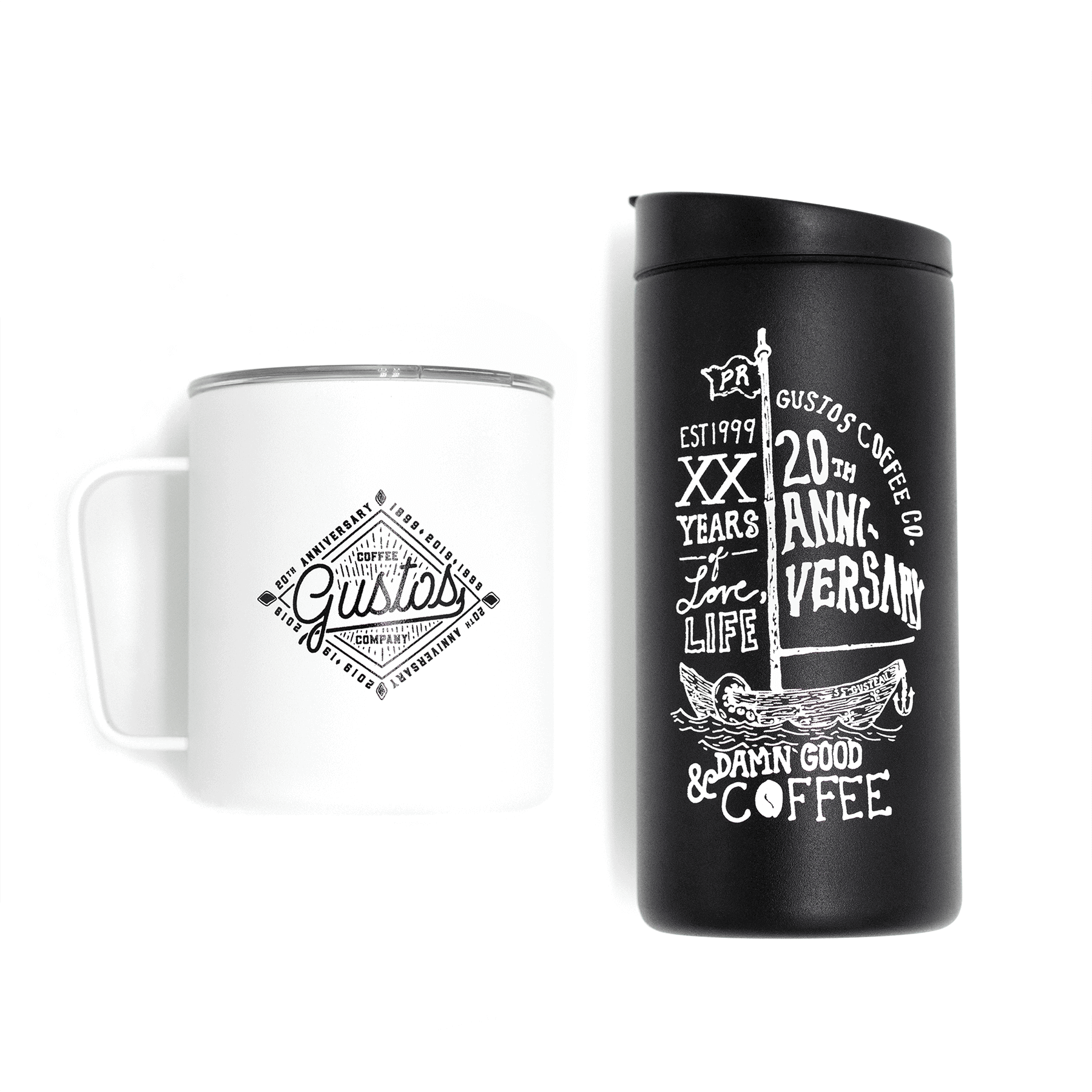 MiiR camp cup and 12 oz tumbler gift set duo