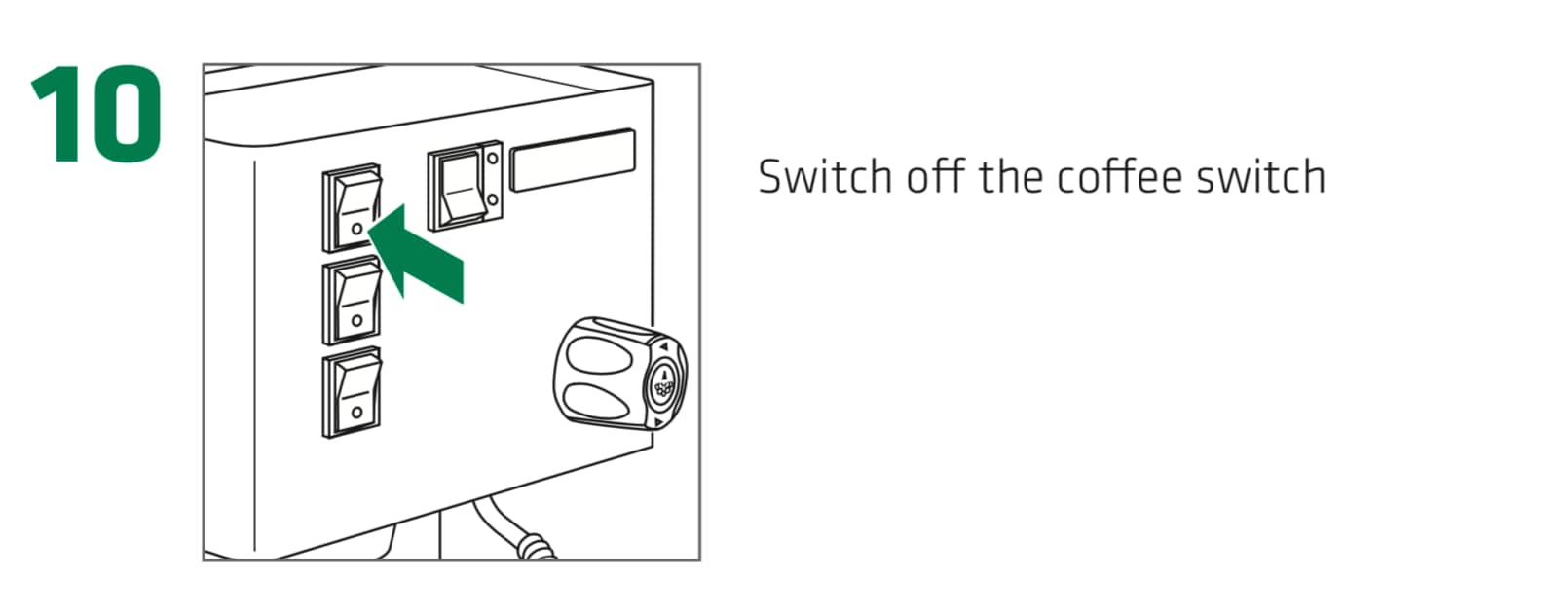 How to set up the Rancilio Silvia Espresso Machine, Step10 : Switch off the coffee switch.