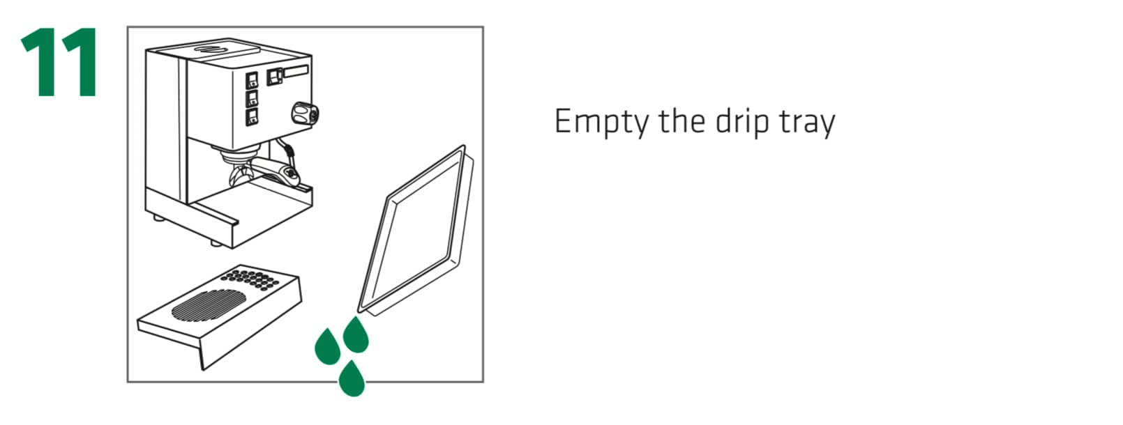 How to set up the Rancilio Silvia Espresso Machine, Step 11 : Empty the drip tray of any remaining water.