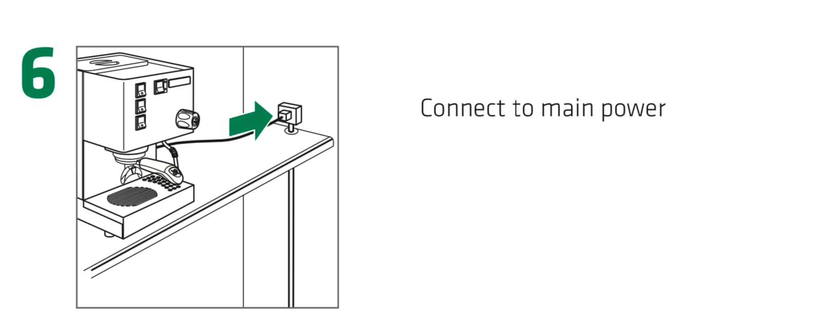 How to set up the Rancilio Silvia Espresso Machine, Step6 : Connect the Rancilio Silvia Espresso Machine to the main power. Make sure area is dry and neatly free of obstacles.