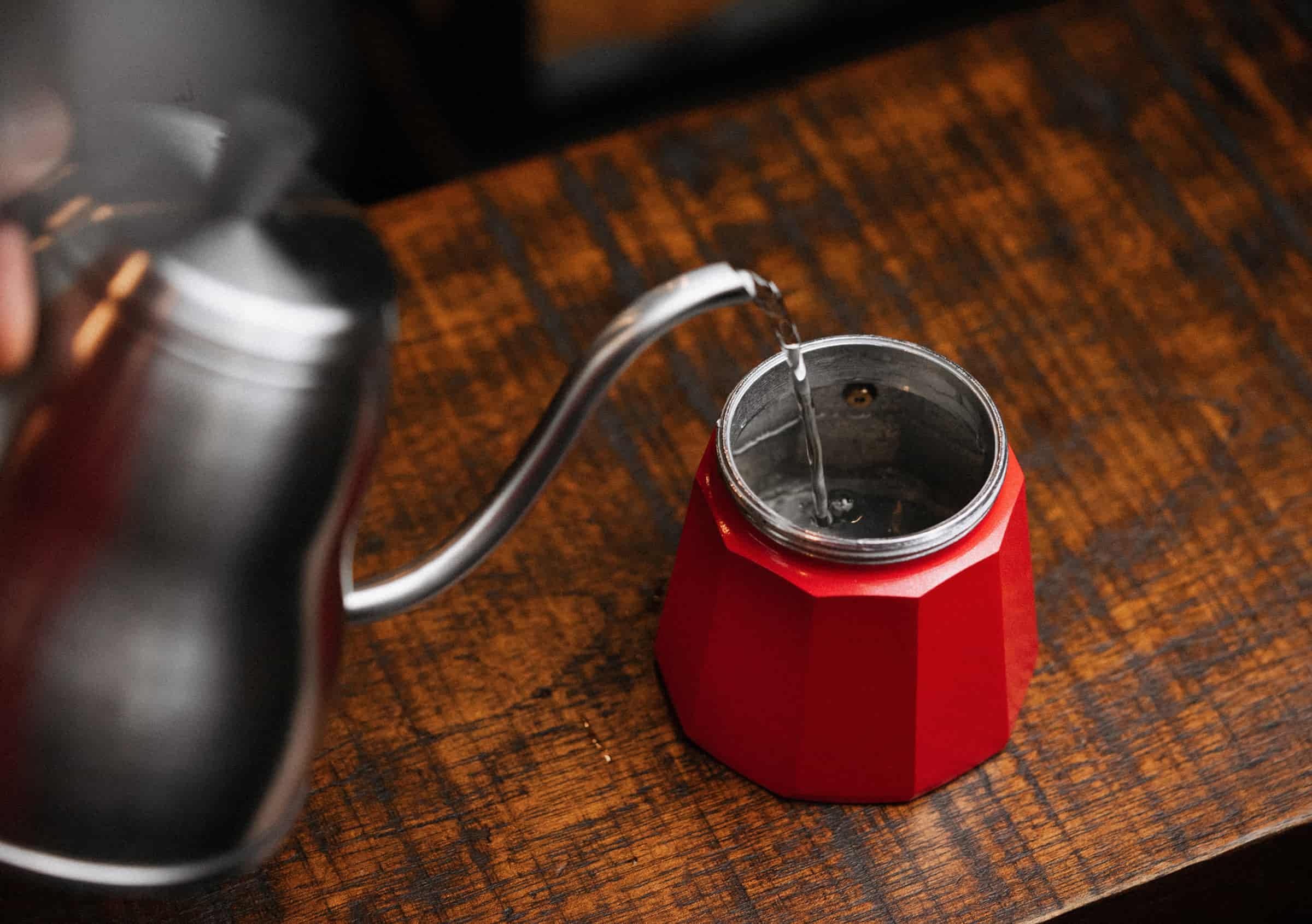 Fill the boiler pot