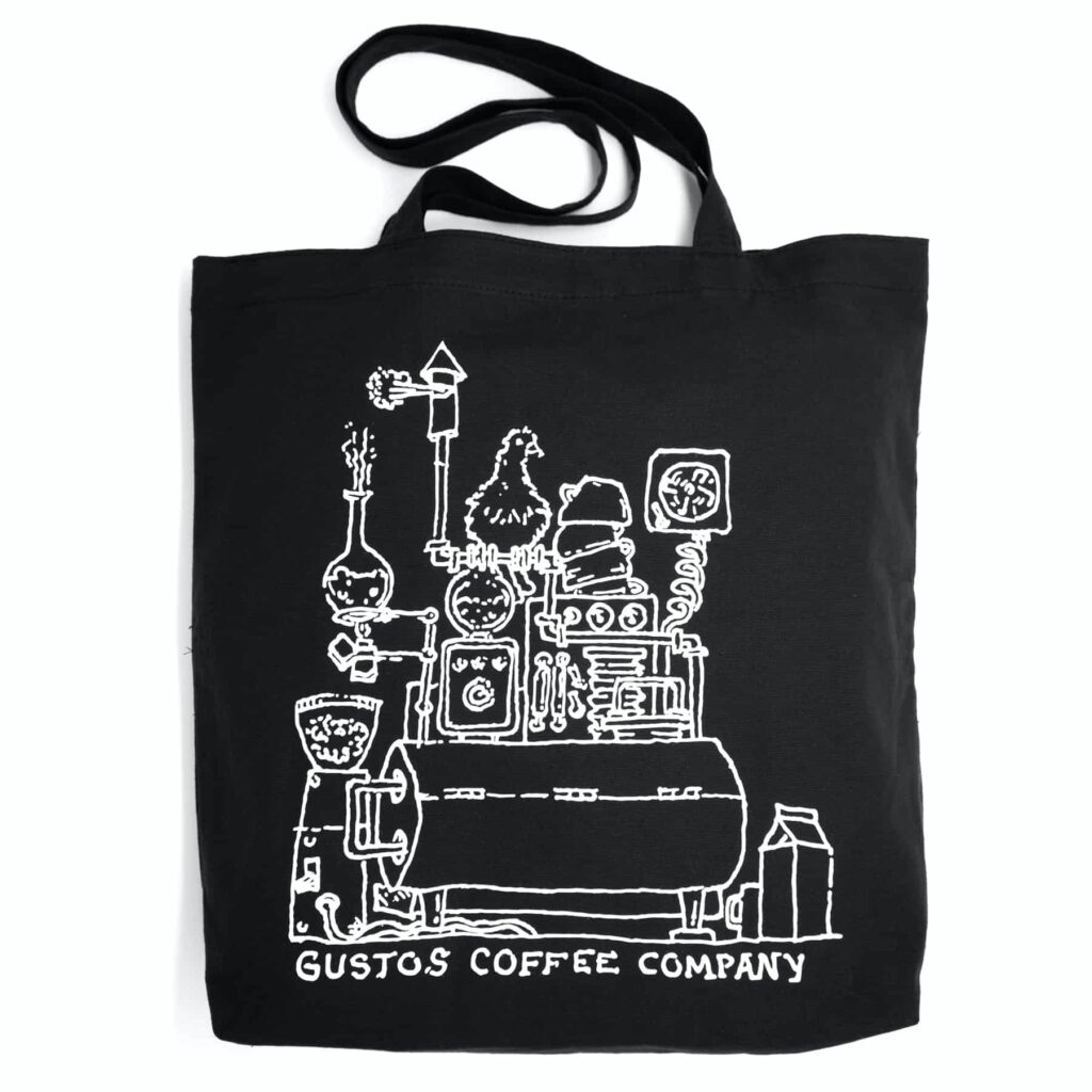 Gustos Coffee From Puerto Rico Merchandise Tote Black Season 2020 Miramar