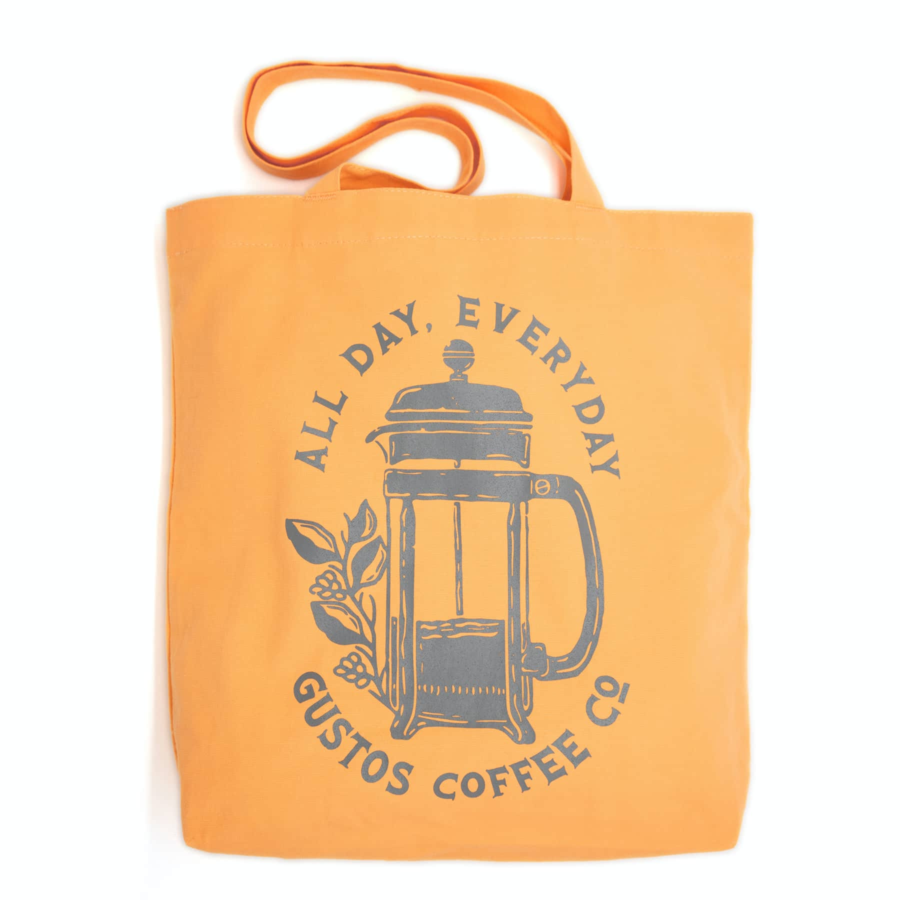 Gustos Coffee From Puerto Rico Merchandise Tote Canteloupe Season 2020 SJ