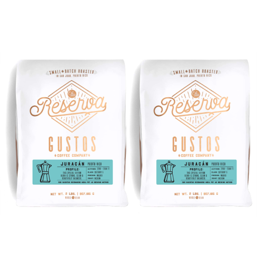 Gustos Coffee From Puerto Rico 2lb Bags of Juracán Specialty Coffee