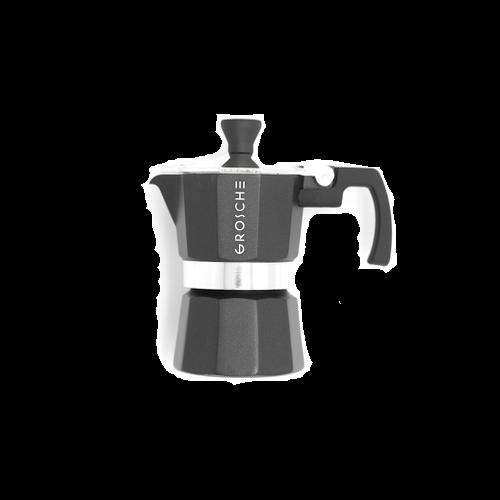 """Greca de café espreso 1 taza """"moka"""" negro"""