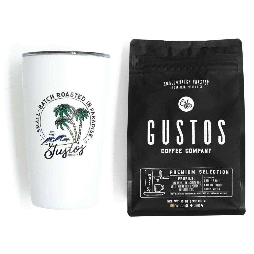 Puerto Rican Premium Coffee Gustos Cafe PR Whole bean