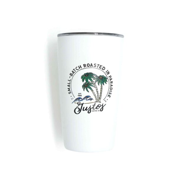 MiiR 12oz Coffee and Drink Tumbler Waves and palm trees art